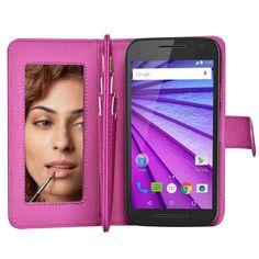 Motorola Moto G 3rd Gen Case w Mirror Wallet Flip Leather Case Cover Rflection | eBay