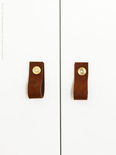Via Skonahem   Leather Door Handles