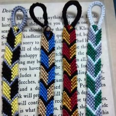 Harry Potter House Colors Friendship Bracelet Set by Cuffcakes Bracelets! :)