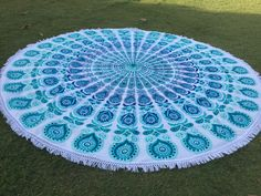 We make White Multi Birds Elephant Mandala Round Beach Towel Roundie Yoga Mat. White Multi Birds Circle Mandala Round Beach Towel, Fringed Roundie. White Multi Birds Bohemian Mandala Round Beach Towel, Fringed Roundie.Single Bed Sheets, Bed covers online, Bed sheets, Double Bed Sheets. We can Customized designs and colors as per customer requirements.  For more information visit : www.saathitextiles.in -  See more at #DoubleBedSheets