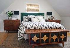 Chevron Duvet from West Elm via @Apartment Therapy