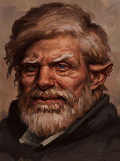 Halfling divination wizard by Unilt on DeviantArt Fantasy Races, High Fantasy, Fantasy Rpg, Fantasy Character Design, Character Concept, Character Art, Fantasy Portraits, Character Portraits, Dnd Characters