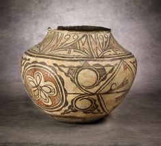 Zuni Polychrome Pottery Jar, c 1890