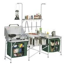 Sick Set For Camping Cabela S Deluxe Camper Kitchen