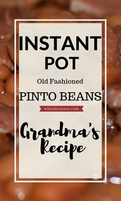 A step by step guide on making true southern pinto beans. Learn how to make dried pinto beans in an Instant Pot or pressure cooker. Southern Pinto Beans Recipe, Instant Pot Pinto Beans Recipe, Pinto Bean Recipes, Pinto Beans And Ham Recipe, Pressure Cooker Beans, Instant Pot Pressure Cooker, Pressure Cooking, Pinto Beans And Rice, Pinto Bean Soup