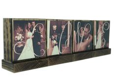 PERSONALIZED PHOTO BLOCKS Gifts To Spell Out Love-Great Wedding Gifts-Anniversary Gifts - Custom Photo Displays-. $8.00, via Etsy.
