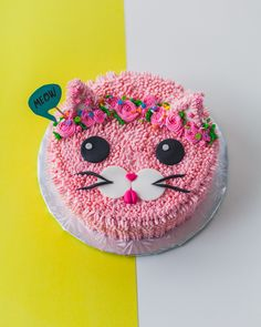bunny cake by coco cake land I sure do love animal cakes. Dog Cakes, Girl Cakes, Cupcake Cakes, Cakes For Girls, Bunny Cupcakes, Birthday Cake For Cat, 6th Birthday Cakes, Birthday Ideas, Kitten Cake