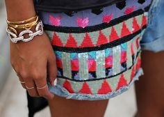 Sequined shorts from Sincerely, Jules