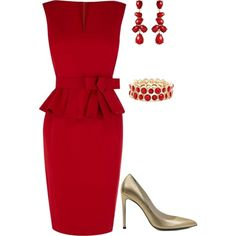 It's Wardrobe Wednesday! This week's inspiration is a modern interview outfit. We're seeing interview outfits switching to a sophisticated dress. This peplum dress is the perfect style. The accesso...