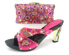89.32$  Buy now - http://aliysa.worldwells.pw/go.php?t=32547340792 - Italian style PU leather shoes and bag set,African party shoes and bag set matching with many rhinestones,MD015-228 size 38-43.