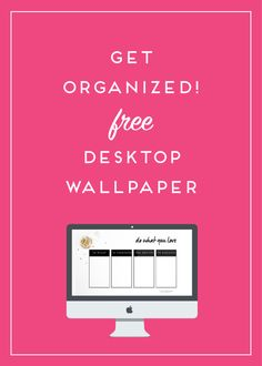 keep your business and your desktop neat and organized with this free wallpaper