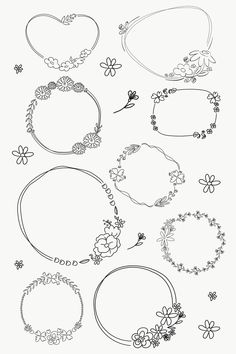 how do html color codes work Free Doodles, Ink Doodles, Little Doodles, Flower Wreath Illustration, Candle Logo, Doodle Frames, Doodle Art, Watercolor Flower Wreath, Cake Drawing