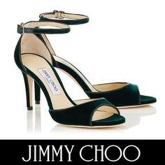 Jimmy Choo サンダル・ミュール ジミーチュウ ANNIE 85 ベルベットならではの深みのあるカラー