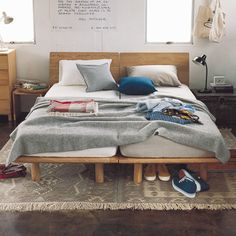 We are living @ home. : Japanese MUJI MUJI autumn and winter 2014 catalog to Hello! Muji Haus, Home Bedroom, Bedroom Decor, Kids Bedroom, Bedroom Ideas, Japanese Bedroom, Loft, Awesome Bedrooms, Man Room