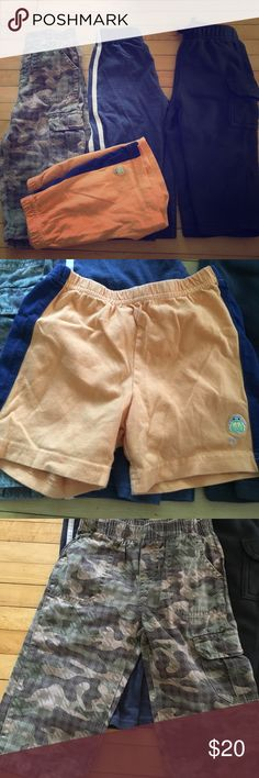 18 month boys pants lot of 4 Boys pants. One black sweatpants size 18 months jumping beans brand. Made in Vietnam     Child of mine carters brand shorts orange and Navy blue size 18 months made in China, wonderkids brand camel themed jeans 18 months made in Bangladesh, Garanimals brand size 18 month made in El Salvador navy blue with white sides. Bottoms Casual