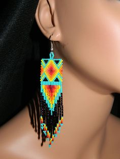 Native American Beautiful Southwest Colors Dangle by LakotaCharm,