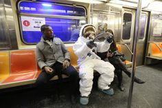 spaceman - Ken Hermann envisions what life on Earth would be like from the perspective of a foreign astronaut. In his photo series, titled 'Spaceman,. New York Subway, Puff And Pass, Life On Mars, A Moment In Time, Man On The Moon, Space Photos, Reaching For The Stars, Photo Series, Space Exploration