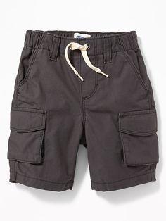 Ripstop Canvas Cargo Shorts for Toddler Boys