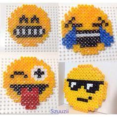 Emoticons hama beads by szuuziii