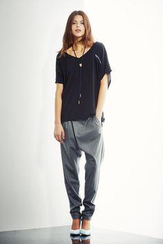 Eastend Top & Wool cross over Pant by shen-nz, via Flickr global wool silk black pant.