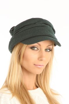 Grace Hats Patrol Cap In Khaki Olive.