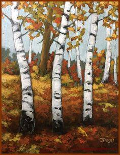 artbylocalartist autumn and birches