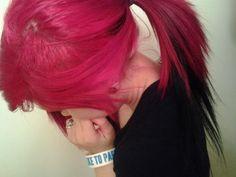 #pink & #black #dyed #hair #pretty