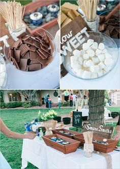 Have a s'mores bar at your wedding!