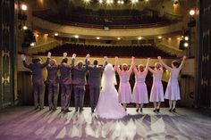 Wedding Photography at The Athenaeum Theater curtain call