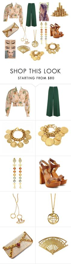 """Treasure Map"" by savannah-foster-330 ❤ liked on Polyvore featuring Kenzo, Topshop, Ben-Amun, Daniela Villegas, Dsquared2, Chloé, Monica Rich Kosann and Judith Leiber"