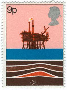 Oil stamp - British Postage