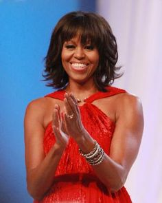 Get the look to First Lady Michelle Obama's new bangs!