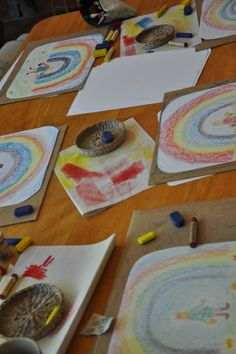 Teaching Block Crayon Drawing and Watercolor Painting