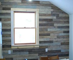 diy plank wall for interest