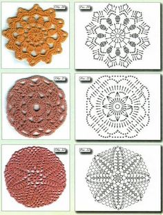 Here I have some diagrams crochet circles for you. Crochet Stitches Chart, Crochet Bear Patterns, Filet Crochet Charts, Crochet Patterns For Beginners, Crochet Designs, Love Crochet, Crochet Motif, Crochet Doilies, Crochet Flowers