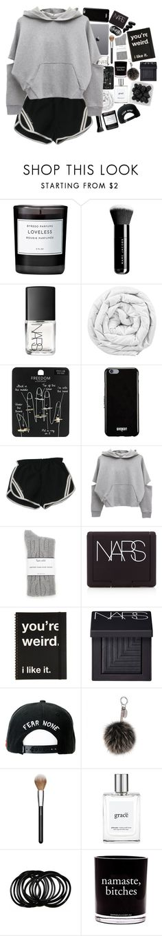 """""""Breaking bones to feel like I'm alive"""" by h-eartstrings ❤ liked on Polyvore featuring Byredo, Marc Jacobs, NARS Cosmetics, Brinkhaus, Topshop, Givenchy, Splendid, Trukfit, Fendi and MAC Cosmetics"""