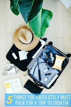 Croatia Packing List: 5 Summer Must-Haves Suitcase Packing, Packing List For Travel, Packing Tips, Vacation Packing, Traveling Tips, Travel Checklist, Vacation Destinations, Travel Guide, Vacations