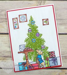 Fun Christmas scene card featuring the Ready For Christmas stamp set from Stampin' UP! Wendy Cranford www.luvinstampin.com