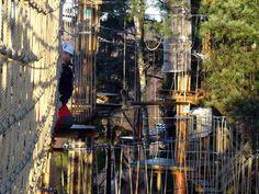 Seikkailupuisto Huippu sisäänkäynnin koordinaatit N 60° 13.688 E 24° 47.785, Leppävaaran Urheilupuisto Espoo, Etelä-Suomen Lääni