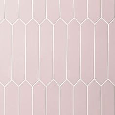Ivy Hill Tile 3 in. x 6 in. Axis Pink Polished Elongated Hex Ceramic Wall Tile - The Home Depot Tropical Tile, Pink Tiles, Hexagon Tiles, Honeycomb Tile, Pink Polish, Ceramic Wall Tiles, Shower Floor, White Ceramics, Bathroom Wall