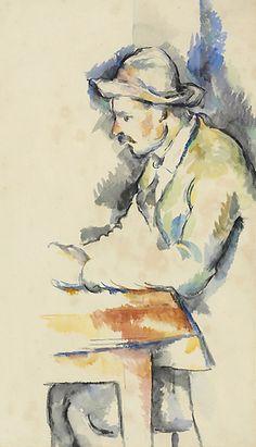 Paul Cezanne / Joueur de cartes / watercolor on laid paper / Painted in / via Christie's Cezanne Art, Paul Cezanne Paintings, Painting & Drawing, Watercolor Paintings, Watercolors, Pierre Auguste Renoir, Edouard Manet, Impressionist Art, Henri Matisse