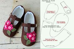 6 Models with baby slippers mold 4 - Moldes zapatitos de bebe nicol - Crochet Shoes Pattern, Baby Shoes Pattern, Baby Shoes Tutorial, Baby Doll Shoes, Doll Shoe Patterns, Paper Shoes, Diy Bebe, Felt Shoes, Baby Slippers