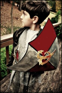 Sir Henry-DIY sword & shield. Matt Board is a must to keep on hand for projects!