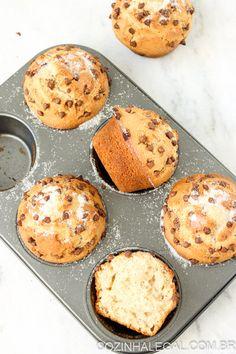 Receita: Muffins com gotas de chocolate   Cozinha Legal