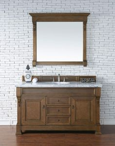 Brookfield 60 Country Oak Single Vanity With 4 Cm Carrara White Marble Top