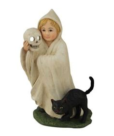 Bethany Lowe Ghost Trick or Treat Halloween Kid Costume with Black Cat Figure Halloween Trick Or Treat, Halloween Night, Scary Halloween, Halloween Themes, Vintage Halloween, Halloween Decorations, Halloween Costumes, Ghost Costumes, Bethany Lowe