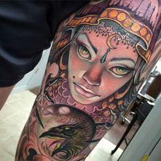 Tattoo done by Teresa Sharpe.