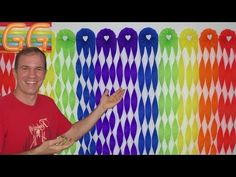 painel / cortina de papel crepom - YouTube