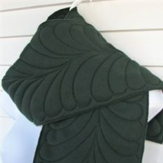quilted fleece scarf is beautiful!