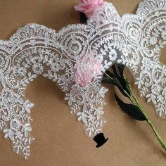 white Bridal Veil Dress Supply Off White Alencon Lace Trim Wedding Lace With Silver Thread Floral Embroidered Retro Lace 9 Inches Wide White Bridal, Bridal Lace, Wedding Lace, Bridal Wedding Dresses, Lace Weddings, White Lace Fabric, Bridal Fabric, Linens And Lace, Schmuck Design